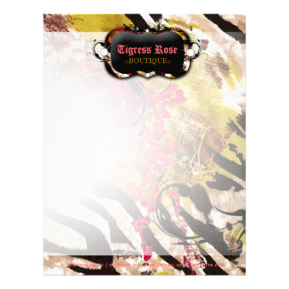 311-Tigress / Zebra Rose Letterhead