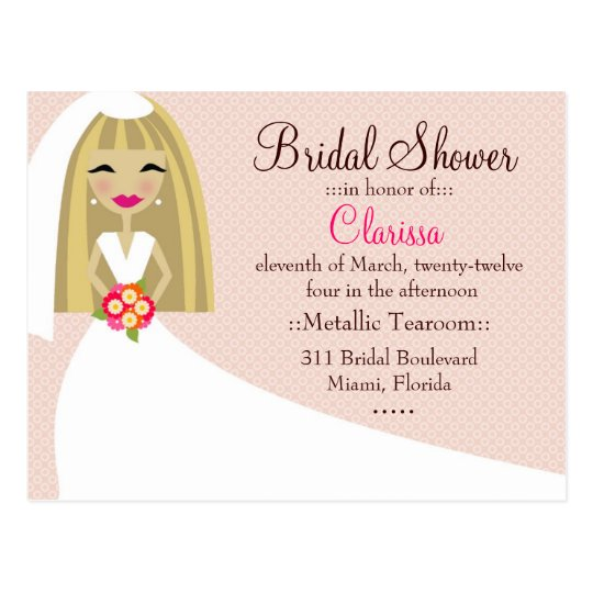 311-TOO CUTIE CLARISSA BRIDE BLONDE POSTCARD