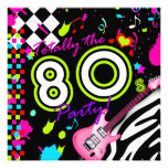 311-Totally the 80s Party - Pink Guitar Personalized Invite