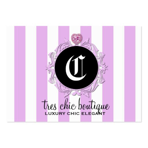 311 Tres Chic Lavender Stripes Business Card Templates