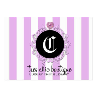 311 Tres Chic Lavender Stripes Large Business Card