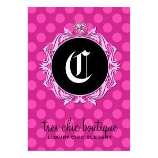 311 Tres Chic Pink Dots Large Business Card