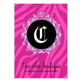 311 Tres Chic Pink Zebra Stripes Large Business Card
