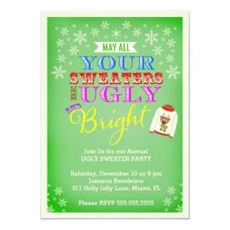 311 Ugly Sweater Party Card