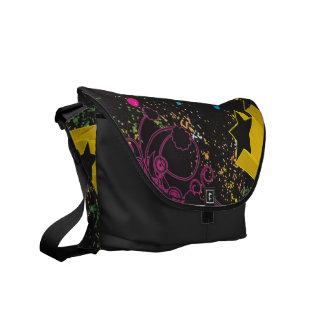 311 Urban Star Paint Splatter Messenger Bags