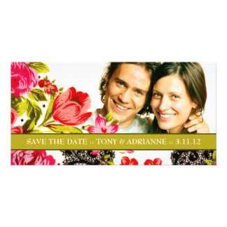311-VIBRANT GARDEN SAVE THE DATE CARD