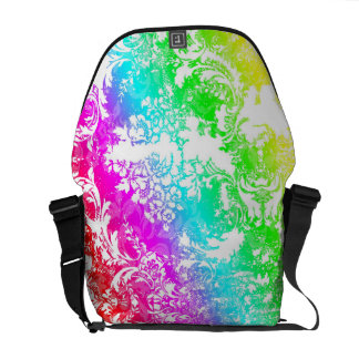 311 Vintage Rainbow Damask Commuter Bags