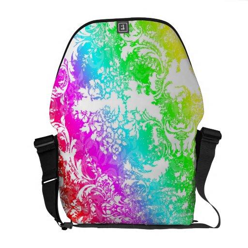 311 Vintage Rainbow Damask Commuter Bags