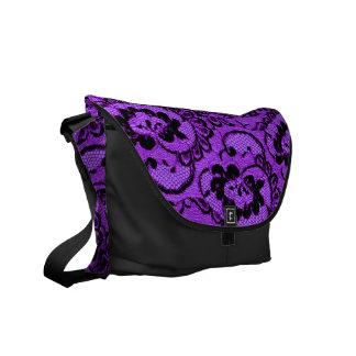 311 Violet Lace (Faux Lace) Commuter Bag