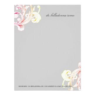 311-Vivid Foliage Gray Flare Letterhead
