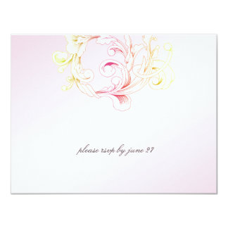 311-Vivid Foliage Pink Flare RSVP Card