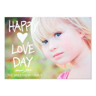 311 White Happy Love Day Valentine Card