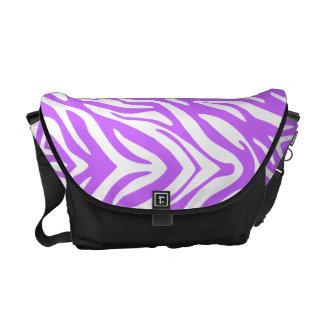 311 Wild Purple Zebra Print Courier Bags