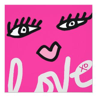 """311 With Love Lip Service Valentine Bash 5.25"""" Square Invitation Card"""