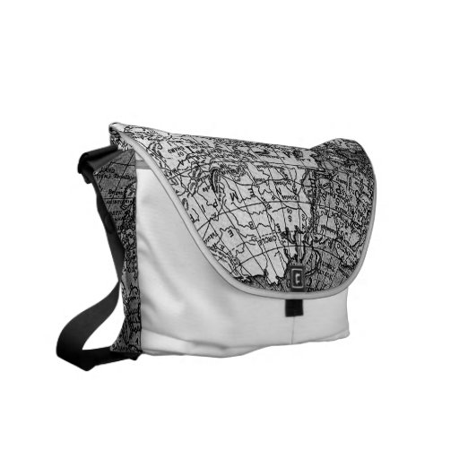 311 World Map White Courier Bags