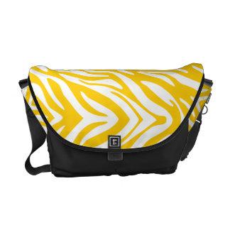 311 Yellow Zebra Print Commuter Bag