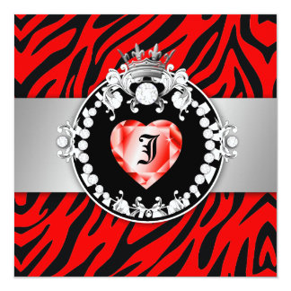 311 Zebra Tique Kiss Queen of Hearts Sweet16 Card