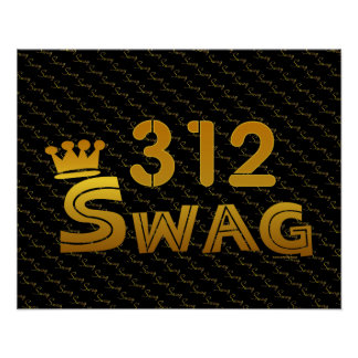 312 Area Code Swag Posters