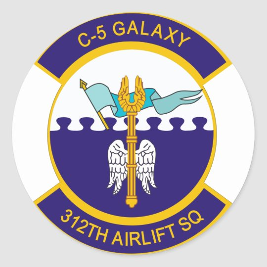 312th Airlift Squadron Classic Round Sticker