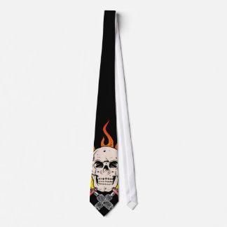 318 Flaming Skull Tattoo Tie