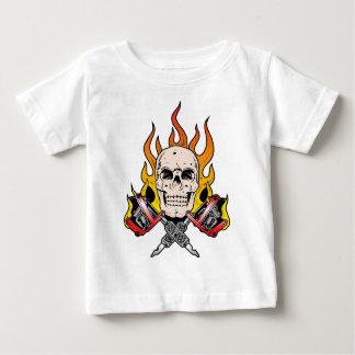 318 Flaming Skull Tattoo T-shirt
