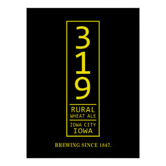 319 Rural Wheat Beer Poster