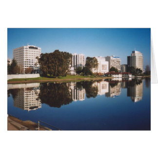 31. Lake Merritt Reflections, Oakland, CA Card
