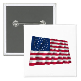 31-star flag, Double Medallion pattern Pin