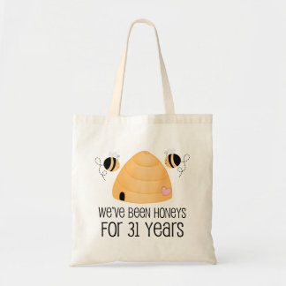 31st Anniversary Couple Gift Tote Bag