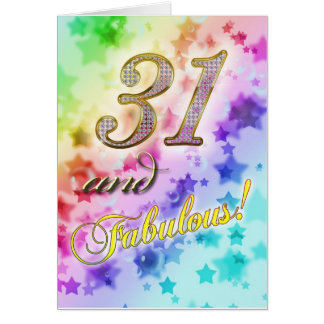 31st birthday for someone Fabulous Card