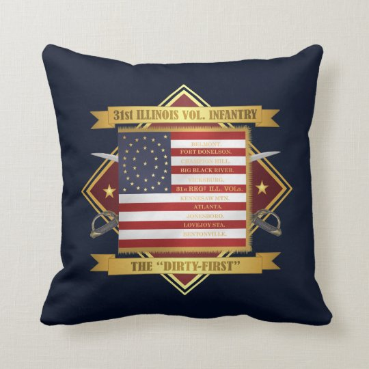 31st Illinois Volunteer Infantry Throw Pillow