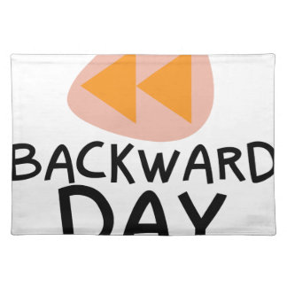 31st January - Backward Day Placemat