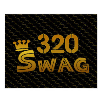320 Area Code Swag Posters
