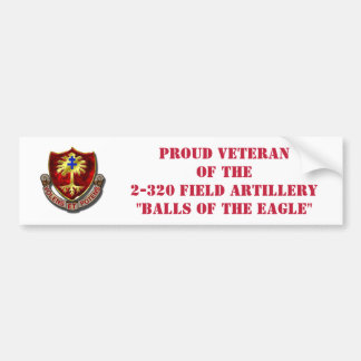 320th Field Artillery Bumper Sticker