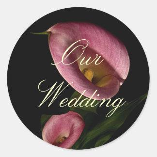322-1234971741P9gZ, Our Wedding Round Sticker