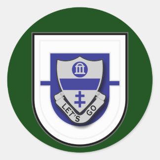 325th Infantry Regiment - 1st Battalion Flash Classic Round Sticker