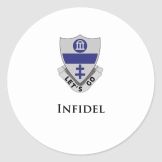 325th PIR- Infidel Classic Round Sticker