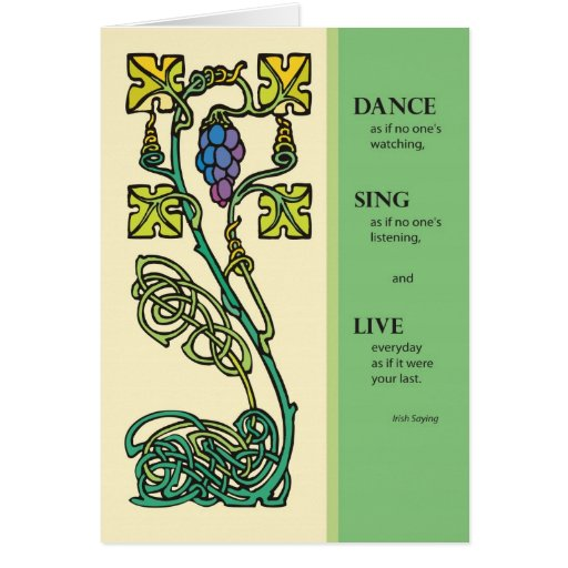 3262 Celtic Dance, Sing, Live Greeting Cards