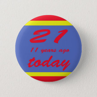 32 birthday 2 inch round button