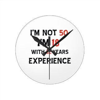 32 birthday design clocks