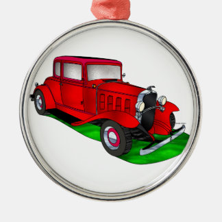 32 Chevrolet Coupe Silver-Colored Round Ornament
