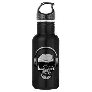 32 oz  Skull with Sunglasses & Headphones 532 Ml Water Bottle