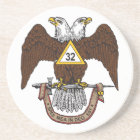32nd Degree Scottish Rite Brown Eagle Coaster