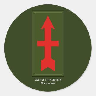 32nd Infantry Brigade Military Round Sticker
