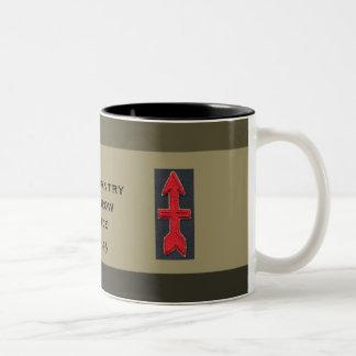 32nd Infantry Red Arrow Brigade Two-Tone Coffee Mug