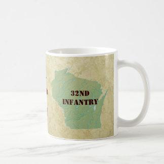 32nd Infantry Wisconsin Red Arrow Brigade Military Basic White Mug