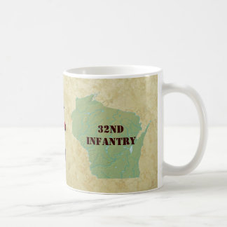 32nd Infantry Wisconsin Red Arrow Brigade Military Classic White Coffee Mug