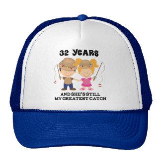32nd Wedding Anniversary Gift For Him Trucker Hat