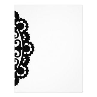 3332__doily-shape-1 BLACK WHITE CIRCLE SHAPES 2 Letterhead Design