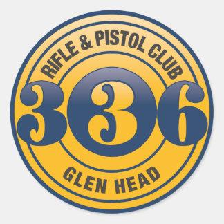 "336 Color Logo 3"" Round Sticker Sheet"
